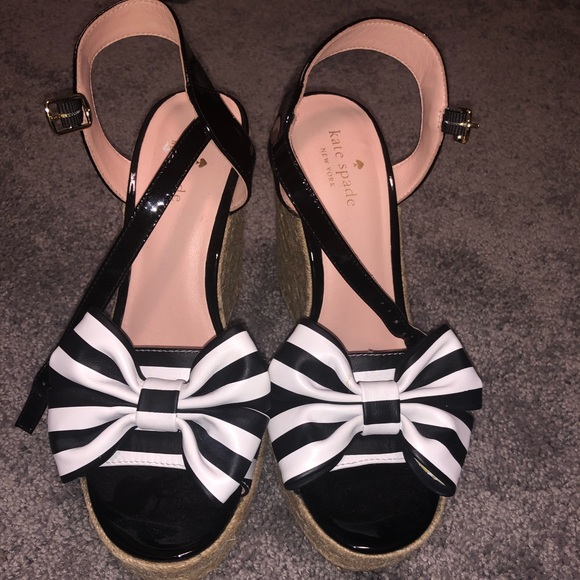 aaed6130623 Like New Kate Spade Bow Espadrille Wedges size 8M
